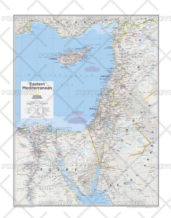 Eastern Mediterranean Atlas Of The World 10Th Edition Map