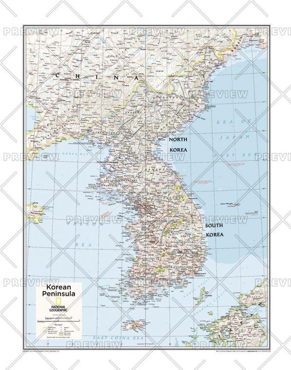 Korean Peninsula Atlas Of The World 10Th Edition Map