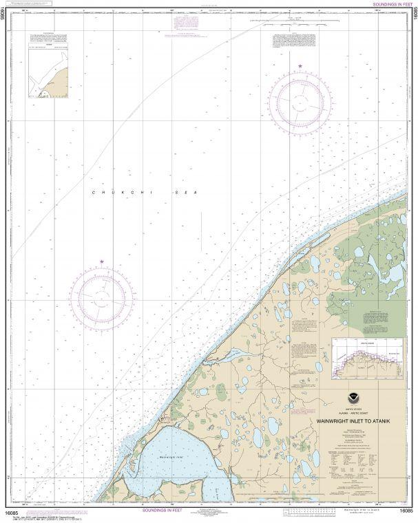Noaa Chart 16085 Wainwright Inlet To Atanik
