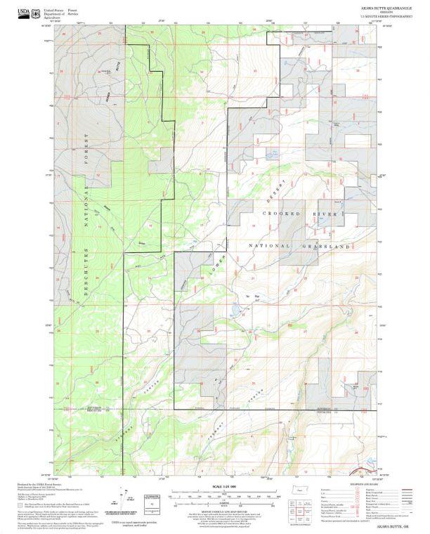 Akawa Butte Quadrangle Map