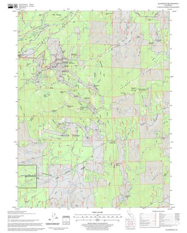 Alleghany Quadrangle Map