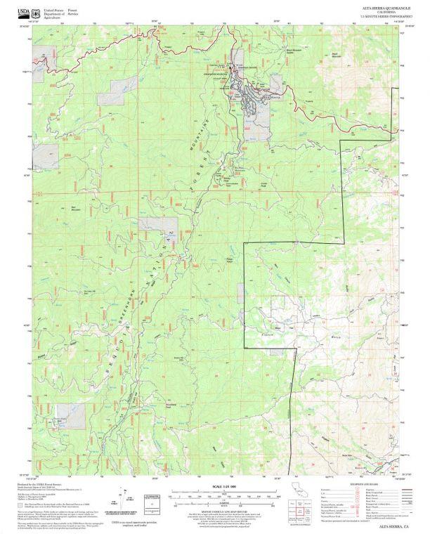 Alta Sierra Quadrangle Map