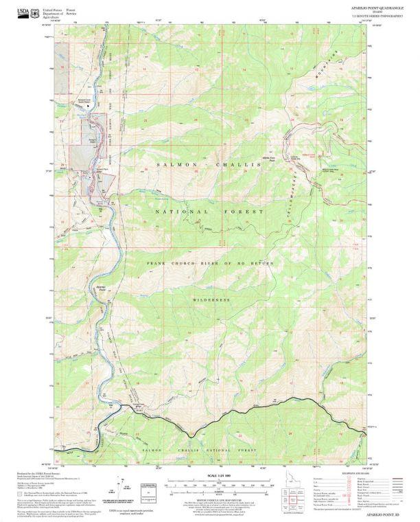 Aparejo Point Quadrangle Map