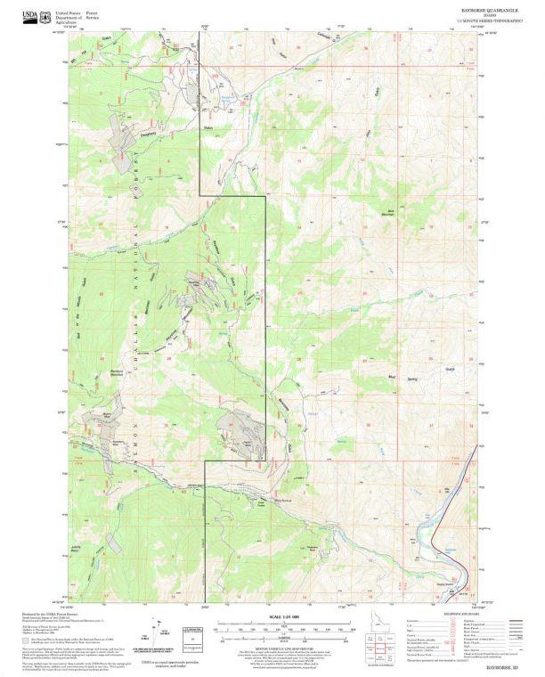 Bayhorse Quadrangle Map