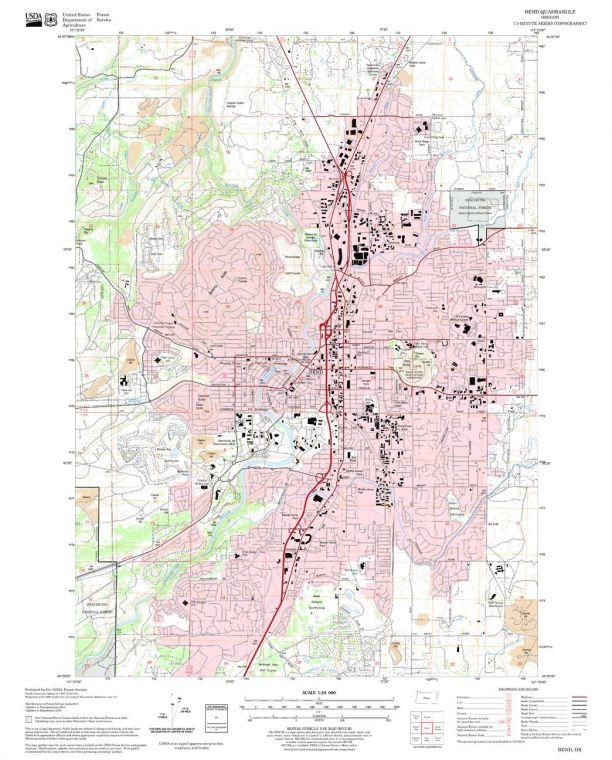 Bend Quadrangle Map