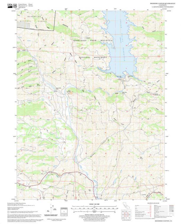 Benmore Canyon Quadrangle Map