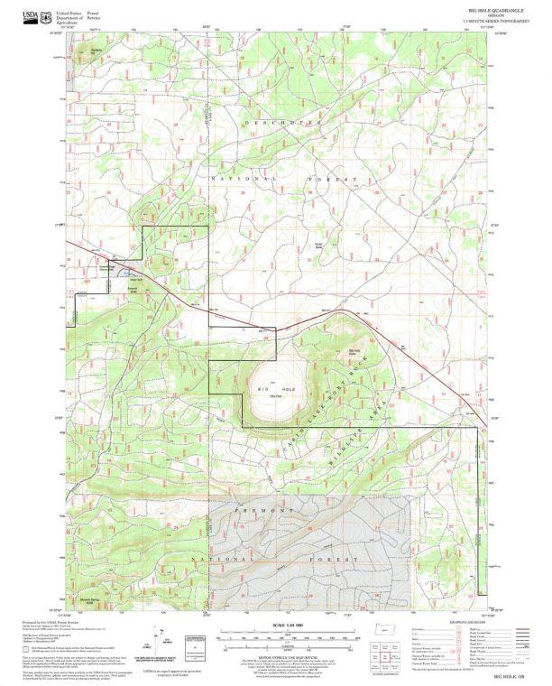 Big Hole Quadrangle Map