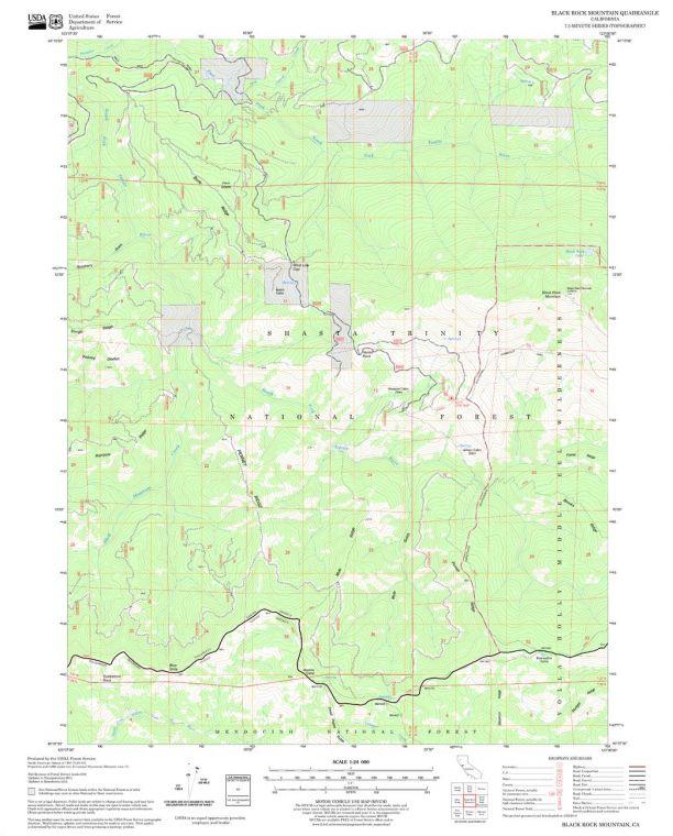 Black Rock Mountain Quadrangle Map