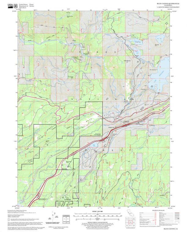 Blue Canyon Quadrangle Map