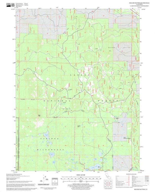 Bogard Buttes Quadrangle Map