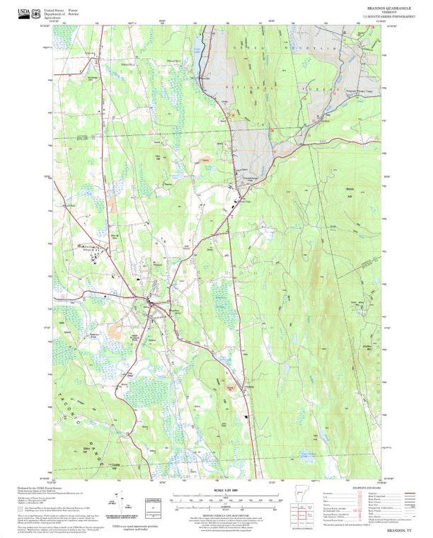 Brandon Quadrangle Map