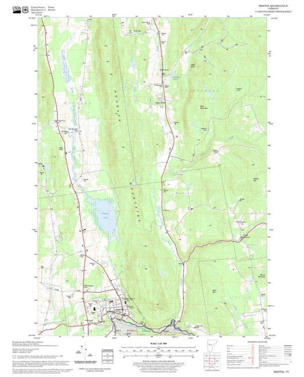 Bristol Quadrangle Map