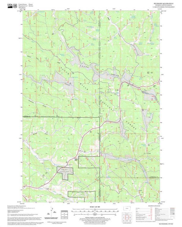 Buckhorn Quadrangle Map