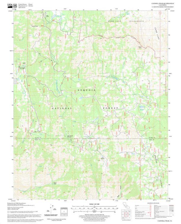 Cannell Peak Quadrangle Map
