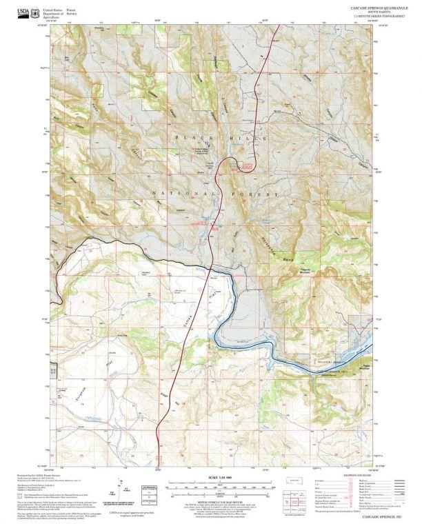 Cascade Springs Quadrangle Map