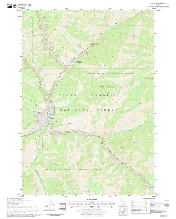 Casto Quadrangle Map