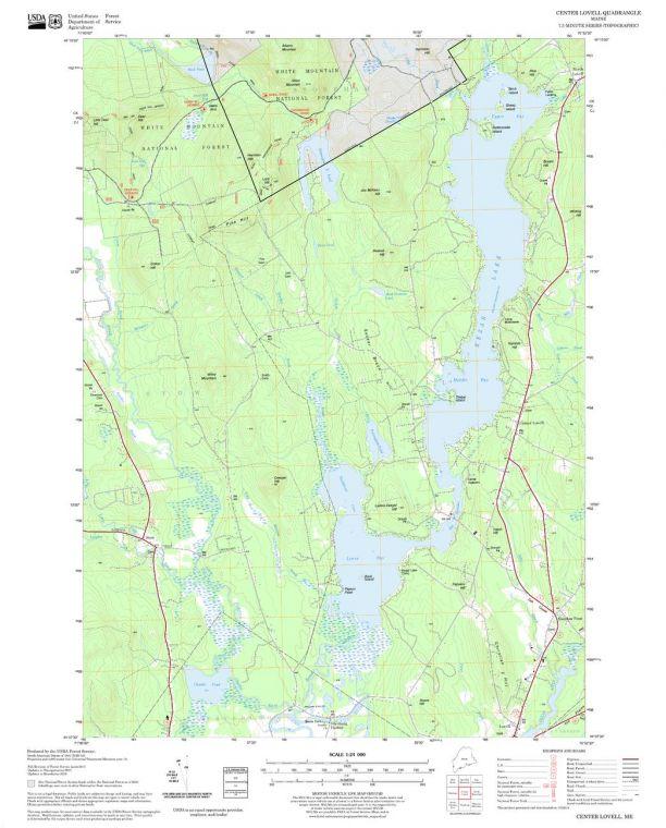 Center Lovell Quadrangle Map