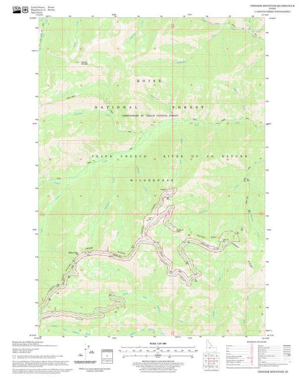Chinook Mountain Quadrangle Map