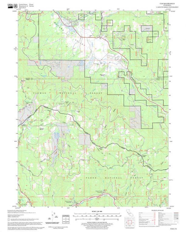 Clio Quadrangle Map