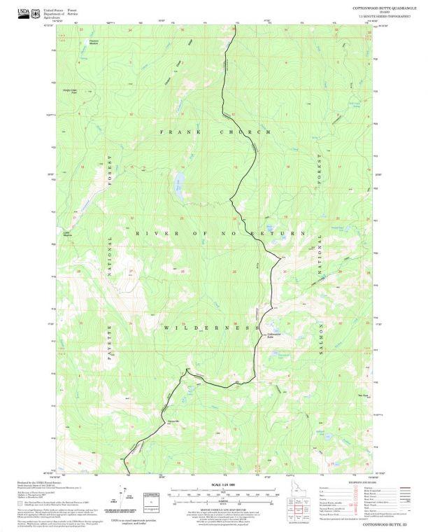 Cottonwood Butte Quadrangle Map