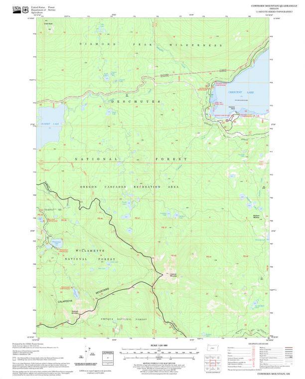 Cowhorn Mountain Quadrangle Map