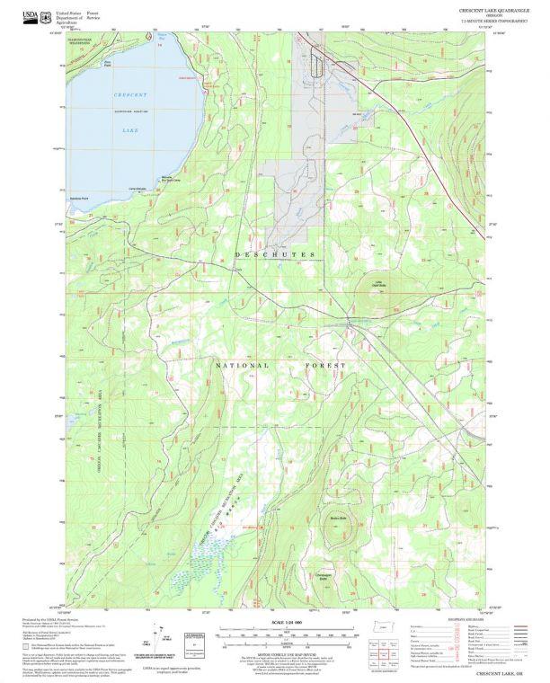Crescent Lake Quadrangle Map