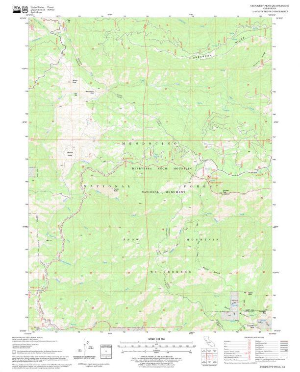 Crockett Peak Quadrangle Map