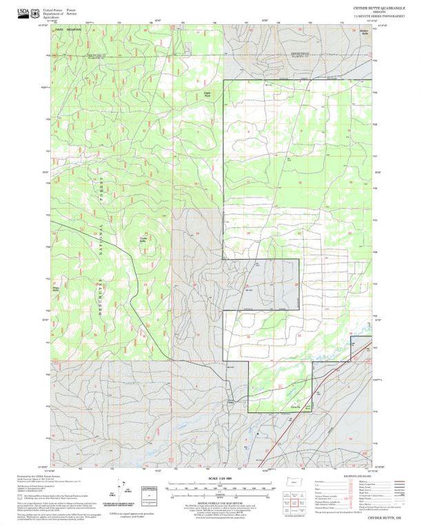 Cryder Butte Quadrangle Map