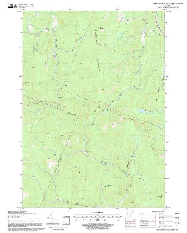 Delectable Mountain Quadrangle Map