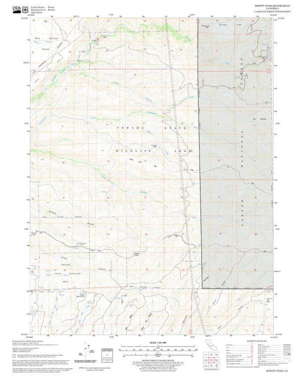 Dewitt Peak Quadrangle Map