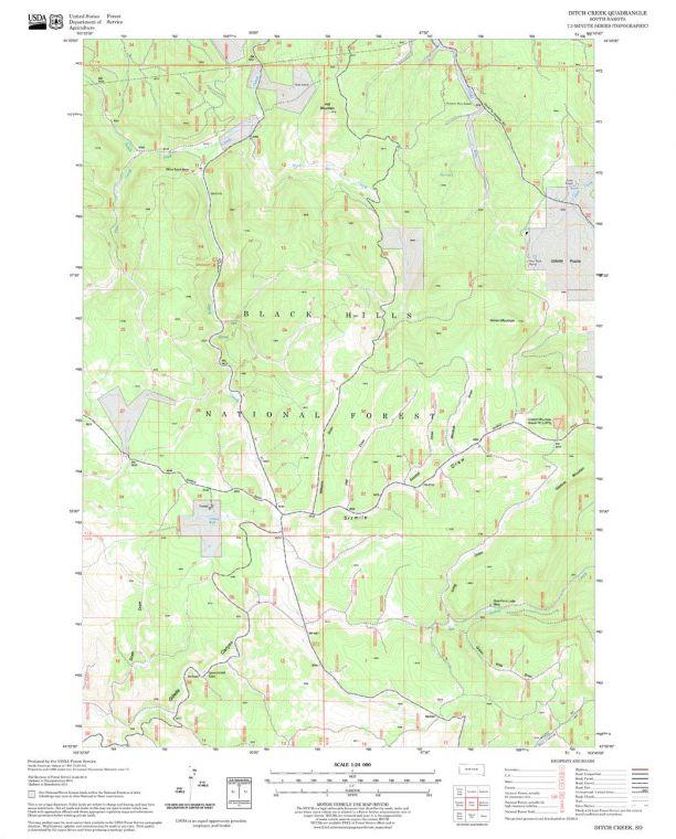 Ditch Creek Quadrangle Map