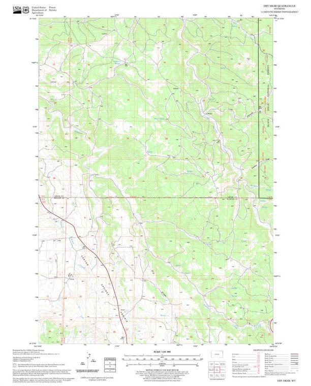 Dry Draw Quadrangle Map