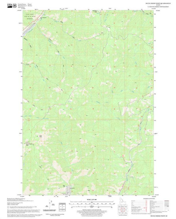 Duck Creek Point Quadrangle Map