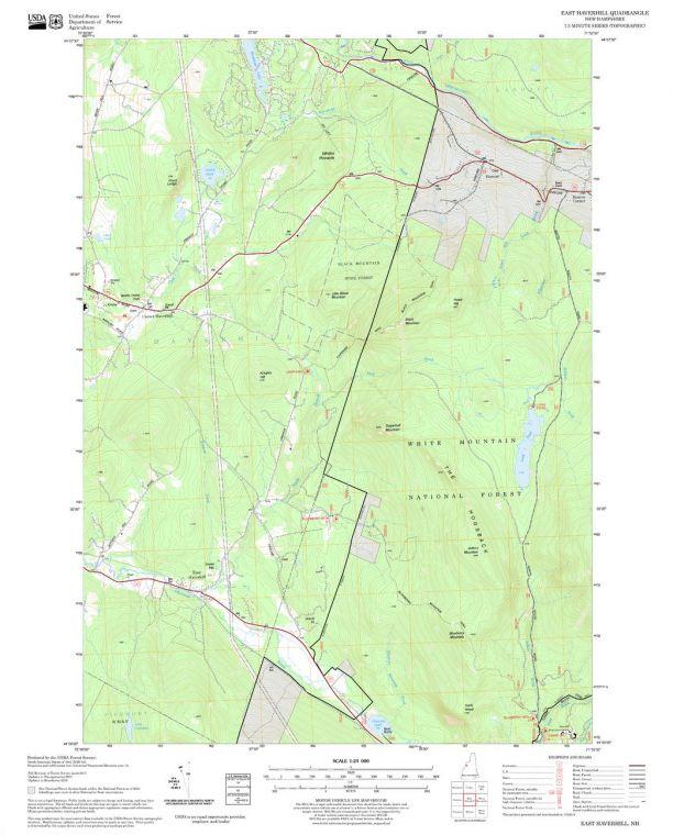 East Haverhill Quadrangle Map