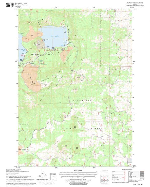 East Lake Quadrangle Map