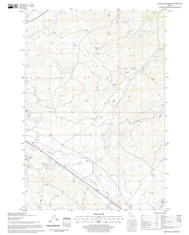 East of Salmon Quadrangle Map
