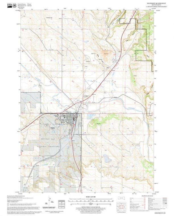 Edgemont Quadrangle Map