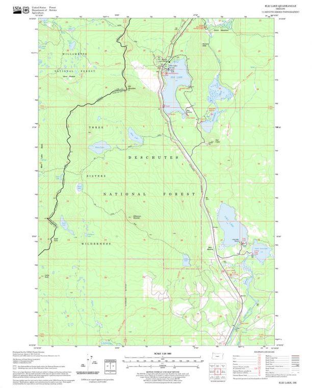 Elk Lake Quadrangle Map