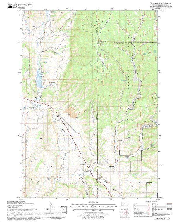 Fanny Peak Quadrangle Map