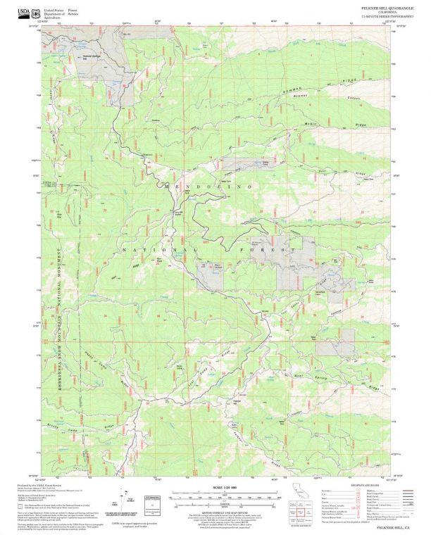 Felkner Hill Quadrangle Map