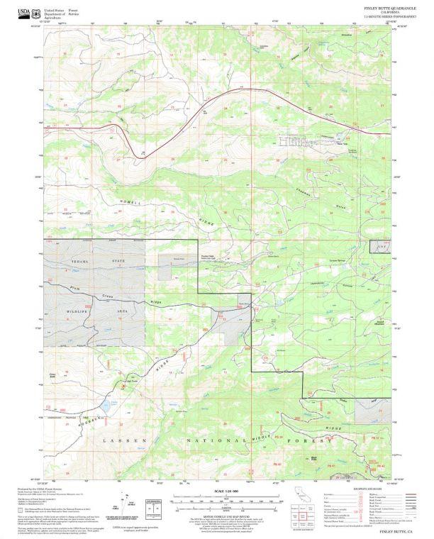 Finley Butte Quadrangle Map