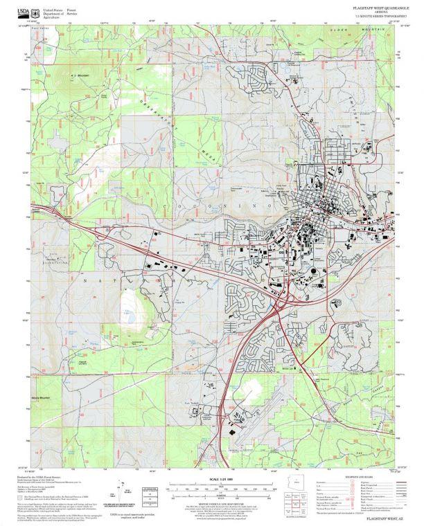 Flagstaff West Quadrangle Map