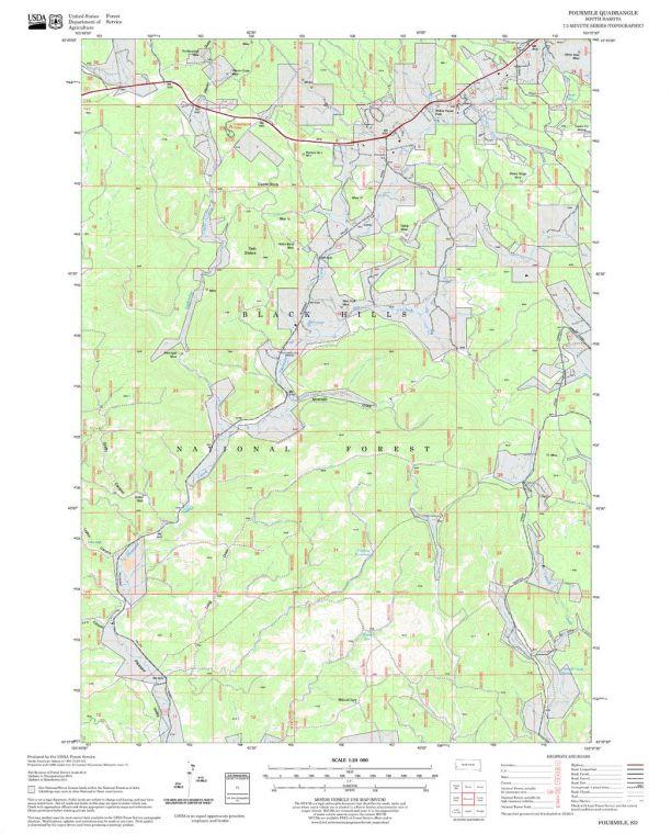 Fourmile Quadrangle Map