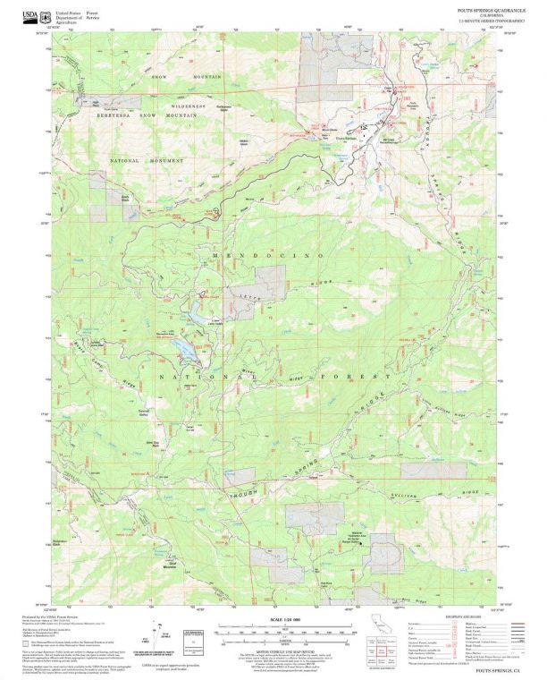 Fouts Springs Quadrangle Map
