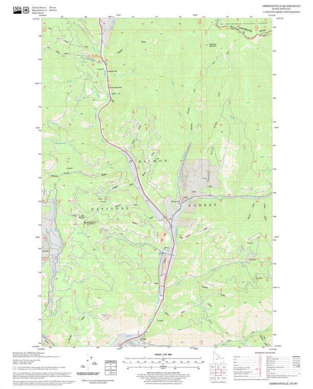 Gibbonsville Quadrangle Map