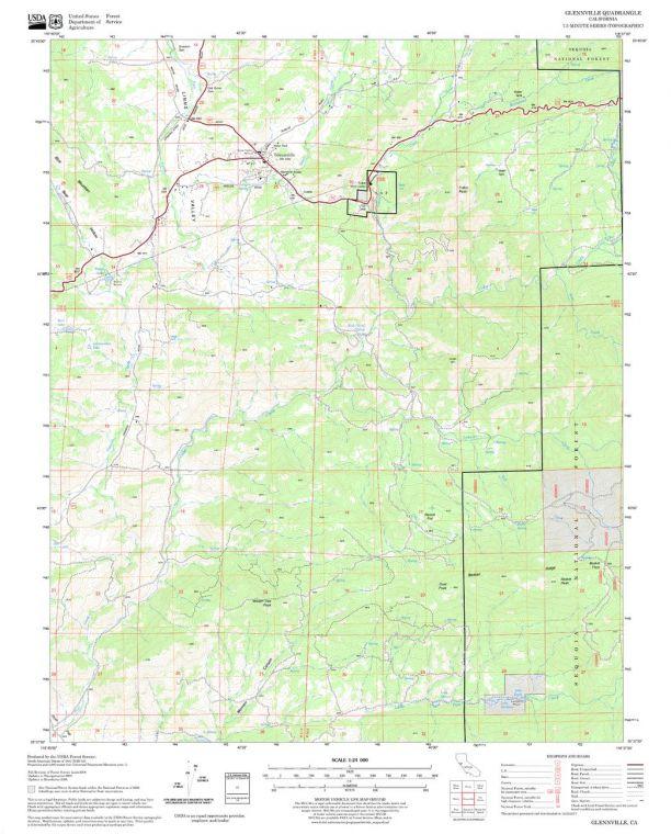 Glennville Quadrangle Map