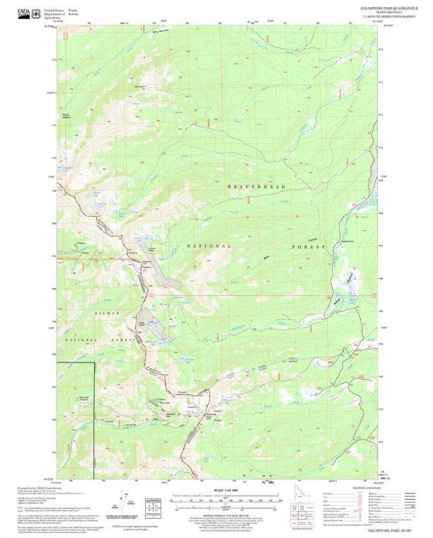 Goldstone Pass Quadrangle Map