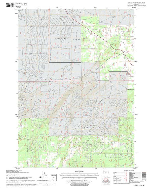 Grass Well Quadrangle Map
