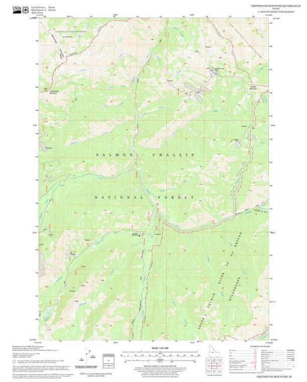 Greyhound Mountain Quadrangle Map