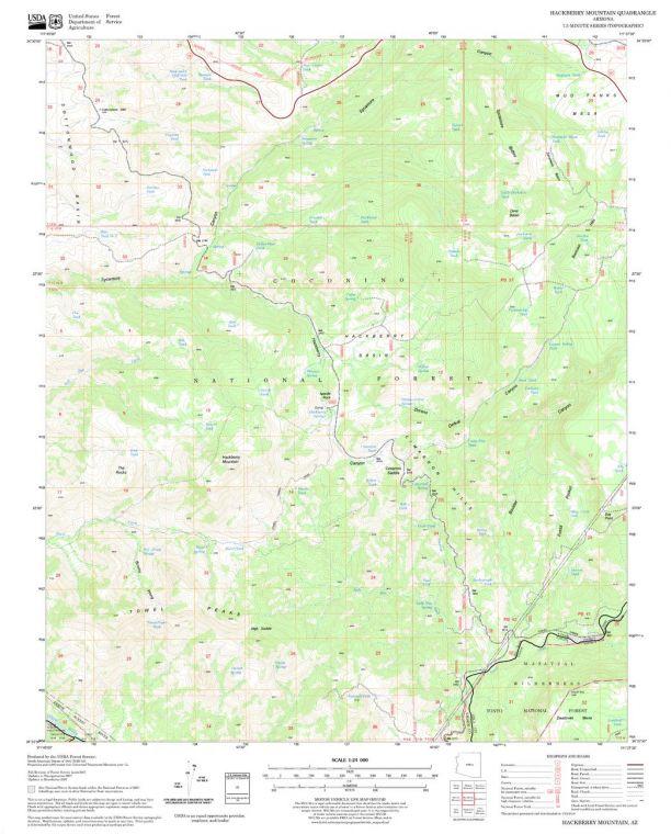 Hackberry Mountain Quadrangle Map